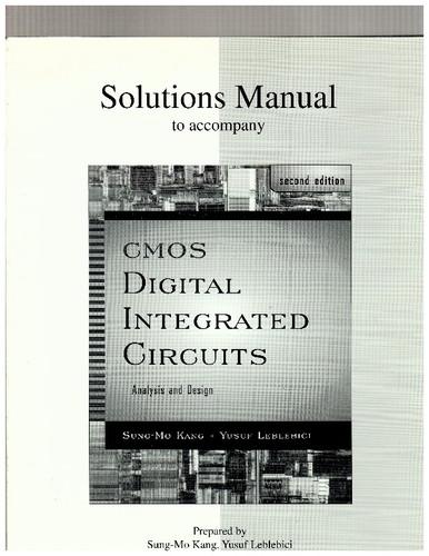 Solution Manual Cmos Digital Integrated Circuits By Sung Mo Kang