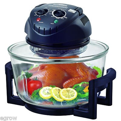 Rapid Wave Convection Countertop Halogen Oven 17 Quart For Easter Day with Ring (Wave Oven Replacement compare prices)
