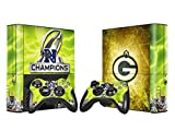 YHC Green Bay Packers Sticker Skin Set for Microsoft Xbox 360E Console+Controllers