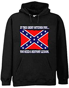 Rebel & Redneck Sweatshirts - Confederate Flag History Lesson Hoodie #312