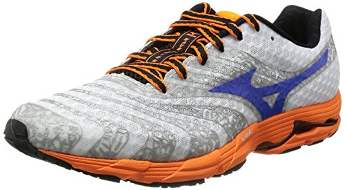 [ミズノ] Mizuno WAVE FUSION [MEN'S] J1GC1434 25 (ホワイト×ブルー/275)