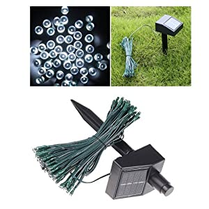 White Solar LED String Lights 100 LED 17M for Decoration, Christmas Tree, Party, Valentine's Day, Wedding,Garden, Outdoor, wall, window, door, floor, ceiling, grass from Andoer