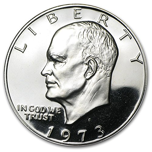 "1973 Eisenhower ""Brown Pack"" 40% Silver Dollar"