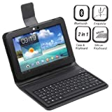 Wireless Bluetooth Keyboard + Leather Case Stand for Samsung Galaxy Tab 8.9