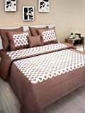 Kismat Collection Luxury Bedding Collection Cotton Printed Double Bed Size Bedsheet With 2 Pillow Cover