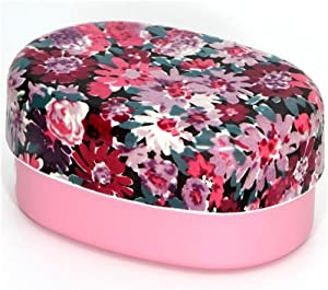 beautiful pink flowers bento box lacquer lunch box kitchen dining. Black Bedroom Furniture Sets. Home Design Ideas