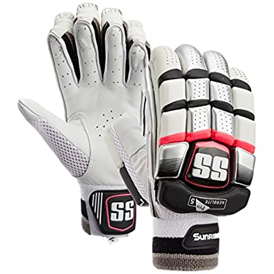 SS Aerolite Men's RH Batting Gloves (Black/White)
