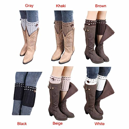 DZT1968®Short Knit Leg Warmer Boots Socks For Women Girl Fall Winter