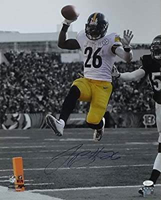 Leveon Bell Autographed Pittsburgh Steelers 16x20 Photo (Vert Sephia) JSA