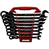 GearWrench 9701 8 Piece Flex-Head Combination Ratcheting Wrench Set SAE