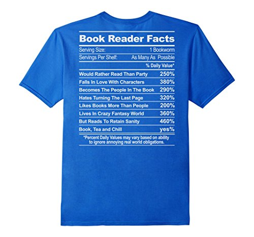 Men's Get The Book Reader Facts - If You Love Reading Books 3XL Royal Blue