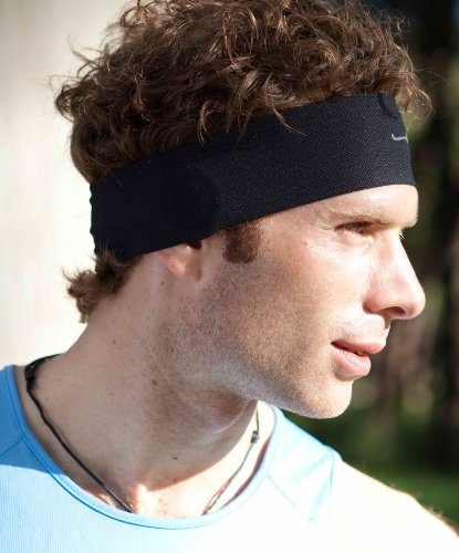 Sport Headphones In A Black Headband