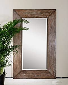 Extra Large Wall Mirror Oversize Rustic Wood XL Luxe Full Length Floor Leaner