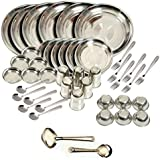 Apricot Stainless Steel Dinner Set Of 44 Pcs