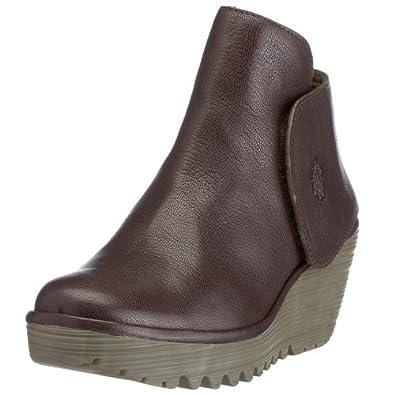 Fly London Women's Yogi Wedge Boot Dark Brown P500046009 4 UK