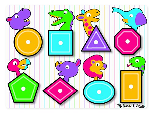 Melissa & Doug Shapes Peg Puzzle - 1