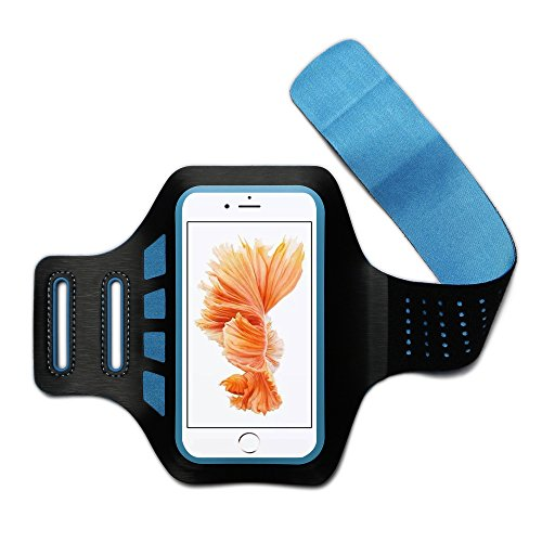 iEazy Sports Armband-Sweat Proof Lightweight Comfortable with Credit Cards Money Holder