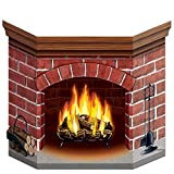 Brick Fireplace Stand-Up Party Accessory (1 count) (1/Pkg)