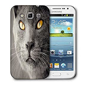 Snoogg Black Cat Printed Protective Phone Back Case Cover For Samsung Galaxy Samsung Galaxy Win I8550 / S IIIIII