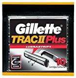 Gillette Trac II Plus Shaving Cartridges, 10-Count Packages (Pack of 2)