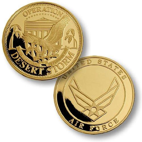 Desert Storm USAF Seal MerlinGold® Challenge Coin