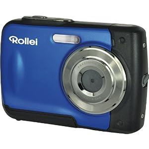 Rollei Sportline 60 Digitalkamera (5 Megapixel, 8-fach digitaler Zoom, 6 cm (2,4 Zoll) Display, bildstabilisiert, bis 3m wasserdicht) blau