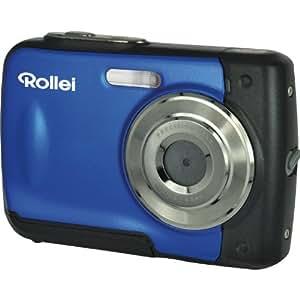Rollei Sportsline 60 Digitalkamera (5 Megapixel, 8-fach digitaler Zoom, 6 cm (2,4 Zoll) Display, bildstabilisiert, bis 3m wasserdicht) blau