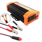 Oakletrea 500W Power Inverter DC 12V to AC 110V Dual US Sockets 2.1A Two USB Ports with Car Cigar Lighter and Alligator Clips for Cell phone, Camera,iPod,PS2,CD,DVD,Fan,Lamp,Blender,Cooler,Laptop