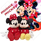Disney Minnie and Mickey Mouse approx 17inches Soft Toy Plush Set of two