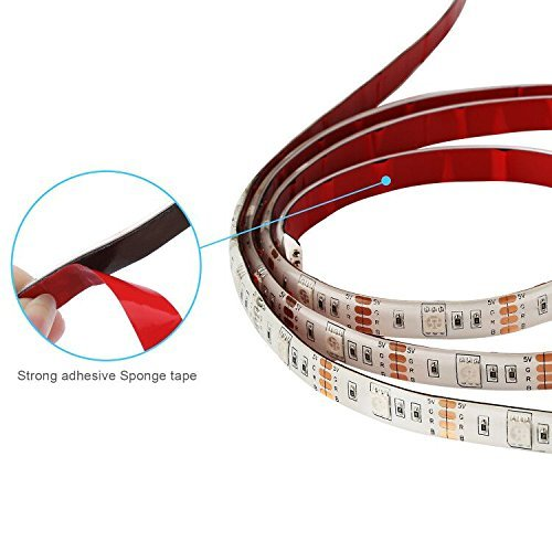 Minger led strip lights kit 4 pre cut one foot strips 3 wire minger led strip lights kit 4 pre cut one foot strips 3 wire mounting clips 44 key mini remote control multicolor rgb home accent led tape light strip for aloadofball Image collections