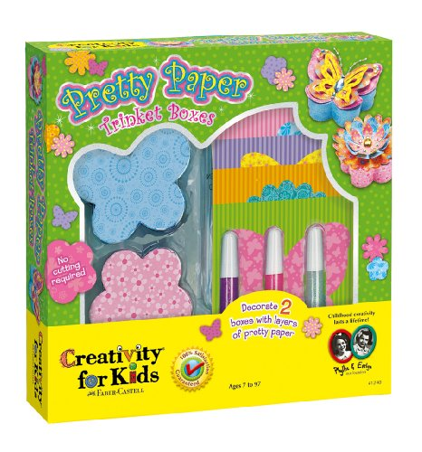 "Faber Castell Creativity For Kids ""Pretty Paper Trinket Boxes"" - 1"
