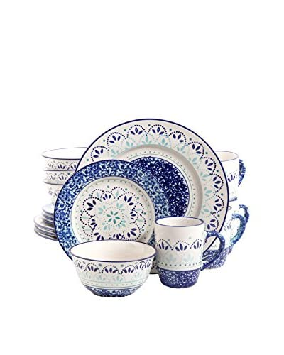 Kamille 16-Piece Hand-Painted Dinnerware Set