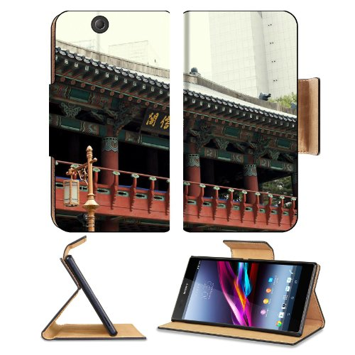 Asian Architecture Seoul South Korea Sony Xperia Z Ultra Flip Case Stand Magnetic Cover Open Ports Customized Made To Order Support Ready Premium Deluxe Pu Leather 7 1/4 Inch (185Mm) X 3 15/16 Inch (100Mm) X 9/16 Inch (14Mm) Msd Sony Xperia Z Ultra Cover front-1003783