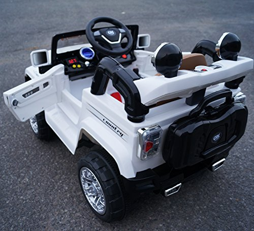 jeep style jj245 white ride on car for kids 2 5 years old with remote control