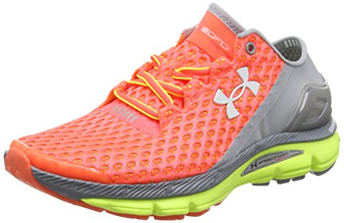Under Armour - Ua W Speedform Gemini - Sneakers da donna, Multicolore ( Arancione / Grigio / Giallo ), EU 38