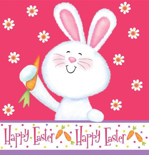 "Happy Bunny Plastic Tablecover - 54"" x 108"""