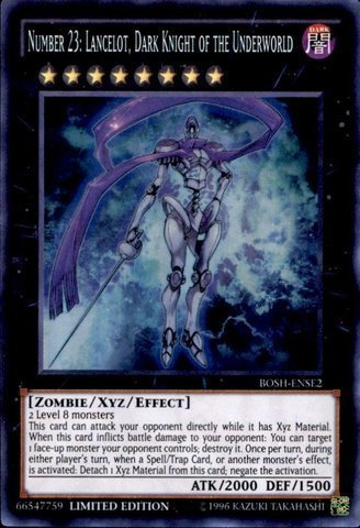 Yu-Gi-Oh! - Number 23: Lancelot, Dark Knight of the Underworld (BOSH-ENSE2) - Breakers of Shadow: Special Edition - Limited Edition - Super Rare by Yu-Gi-Oh! (Yugioh Number 23 compare prices)