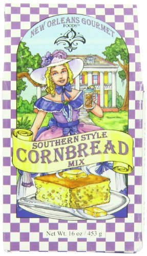 New Orleans Gourmet Foods Southern Style Cornbread Mix, 16-Ounce Bags (Pack Of 6)