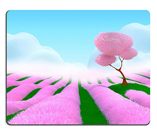 liili-mouse-pad-natural-rubber-mousepad-image-id-23292883-field-with-pink-flowers-cherry-tree-on-a-h