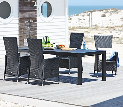 23bd96f27965 Cheap JYSK Table SKAGEN L245/314cm + 4 chairs SKIVE - Buy Garden ...