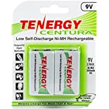 Tenergy Centura 9V 200mAh Low Self-Discharge NiMH Rechargeable Batteries -2pcs card