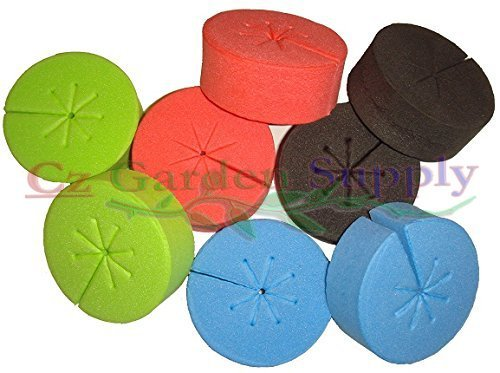 Net Pot Cloning Collars Inserts - NEW SPOKE DESIGN - DIY Cloner and Clone Machines by Cz Garden Supply® (fits 2 inch net pots/cups, BLACK - 50 pack) (Garden Machine compare prices)