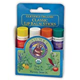 Badger Balm Classic Lip Balm Blue Pack 4 Pack