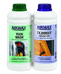 NIKWAX TECH WASH/TX DIRECT CLEAN & PROOF TWIN PACK (1 LITRE)