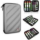 Travel Organizer Portable EVA Hard Drive Case Electronics Accessories /Cables & Accessories/ Hard Drive Shockproof Waterproof Digital Products to Receive a Package (Gray)