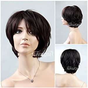 (WG-ZL02C-2/33)Short Straight Hair Wig,Black color
