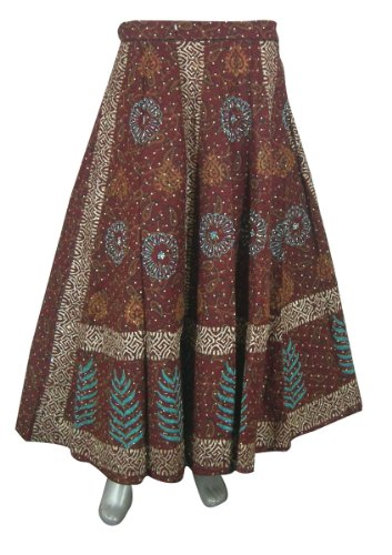 Designer Wrap Around Skirt Indian Cotton Dresses for Girls