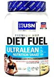 USN Diet Fuel Ultralean Weight Control Meal Replacement Shake Powder, Vanilla - 1 kg