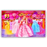 Beautiful Kids Toys With Trendy Dresses Like Barbie Doll Set Toy Baby Gift - 73
