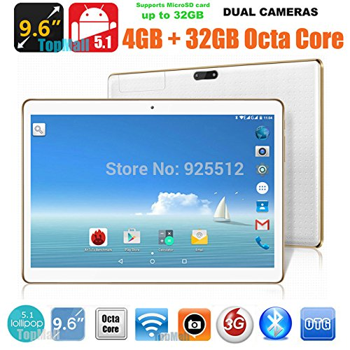 Glod 9.7 inch 8 core Tablet PC Octa Cores 2560X1600 IPS RAM 4GB ROM 32GB 8.0MP WIFI 3G Dual sim card Wcdma+GSM Tablets PCS Android5.1